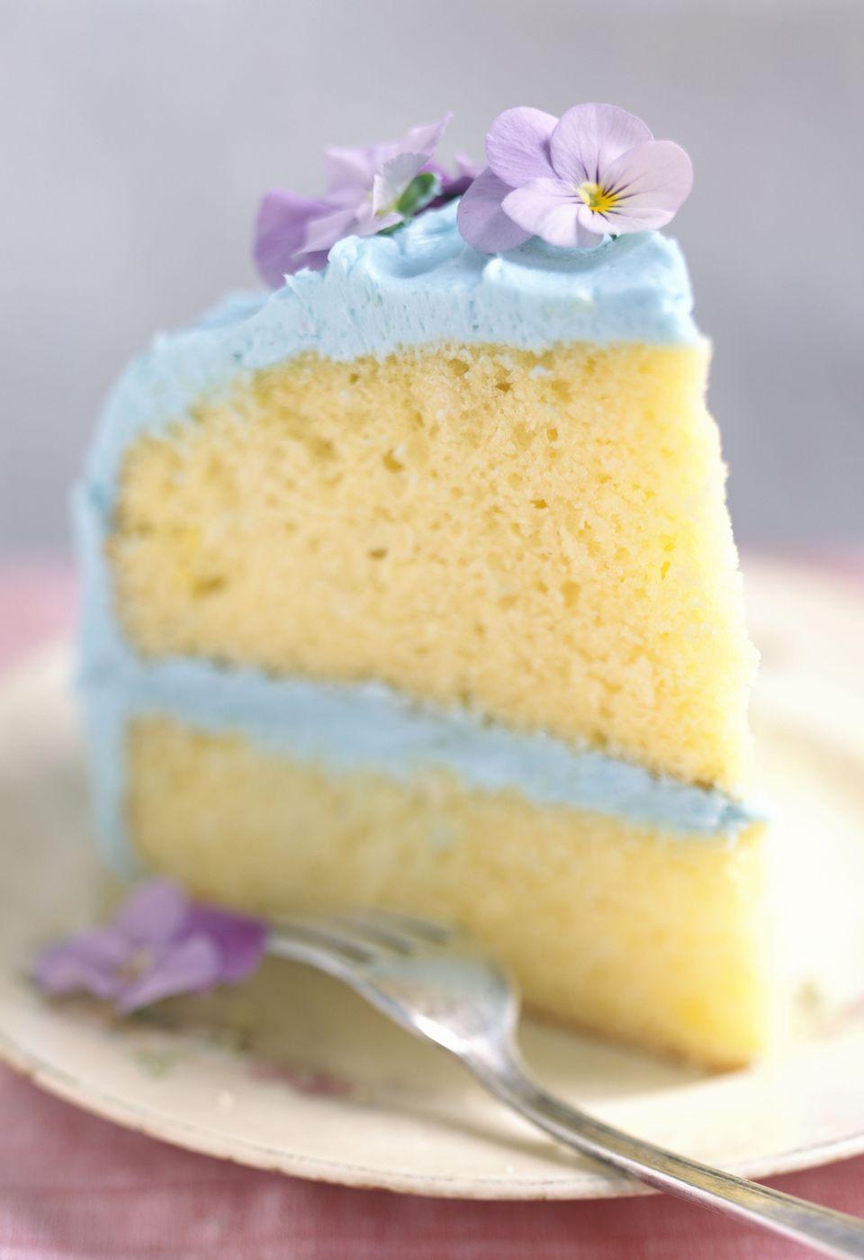 Fluffy Vanilla Cake Recipe  Fluffy Homemade Vanilla Cake Recipe