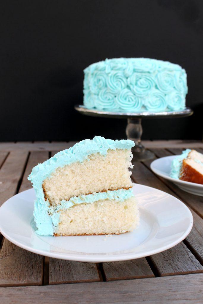 Fluffy Vanilla Cake Recipe  Fluffy White Cake with Vanilla Buttercream