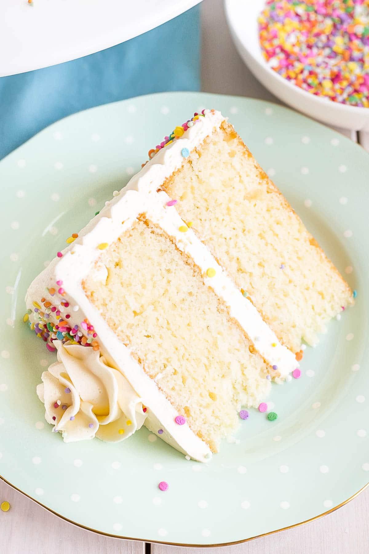 Fluffy Vanilla Cake Recipe  Vanilla Cake With Vanilla Buttercream Liv for Cake