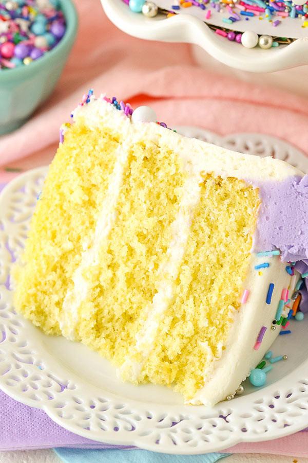 Fluffy Vanilla Cake Recipe  BEST Vanilla Layer Cake
