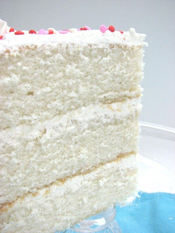 Fluffy Vanilla Cake Recipe  Heidi Bakes Fluffy Vanilla Cake with Junior s Decorator s