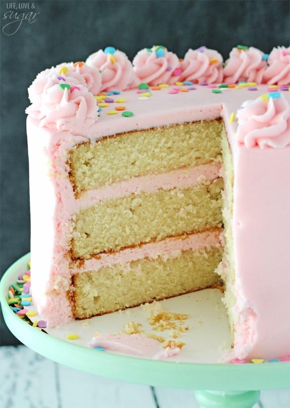 Fluffy Vanilla Cake Recipe  Moist and Fluffy Vanilla Cake Life Love and Sugar