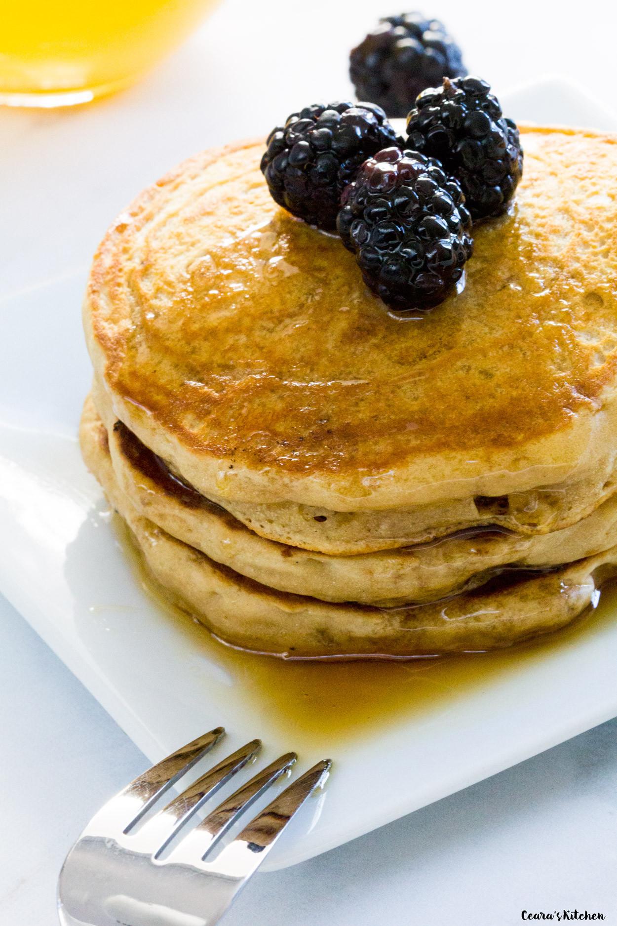 Fluffy Vegan Pancakes  Vegan Fluffy Pancakes
