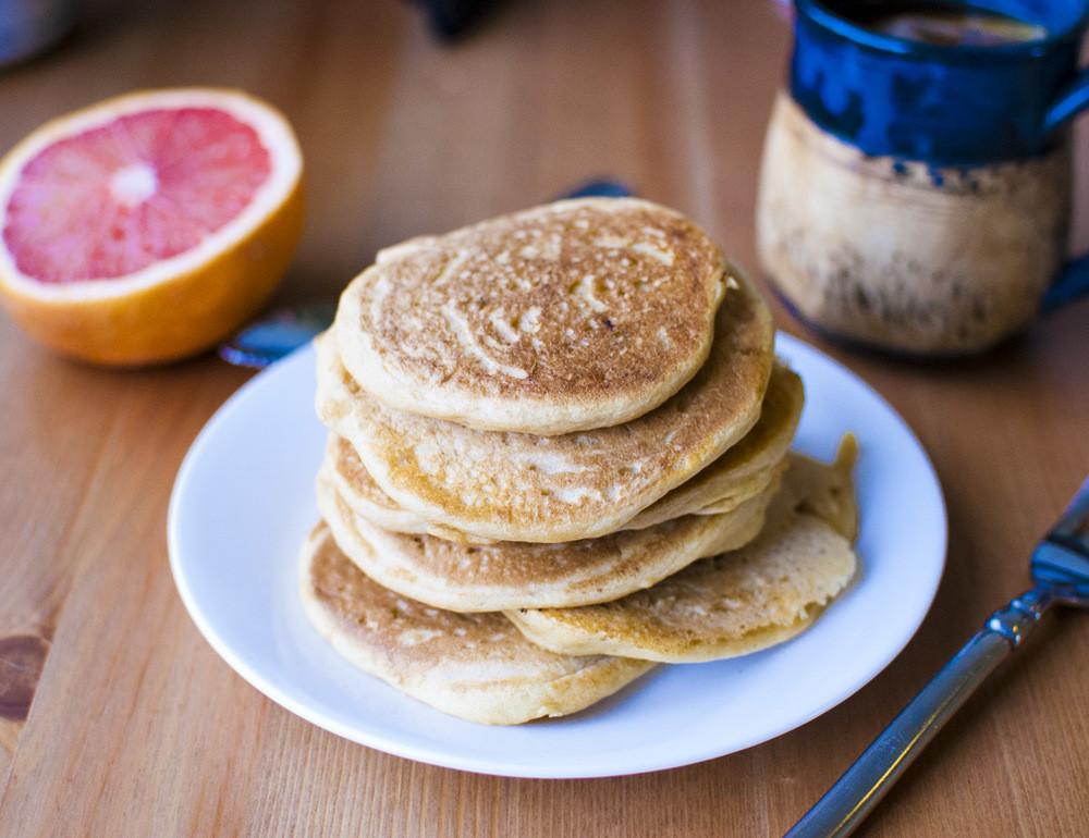 Fluffy Vegan Pancakes  Easy Fluffy Vegan Pancakes — Fo Reals Life