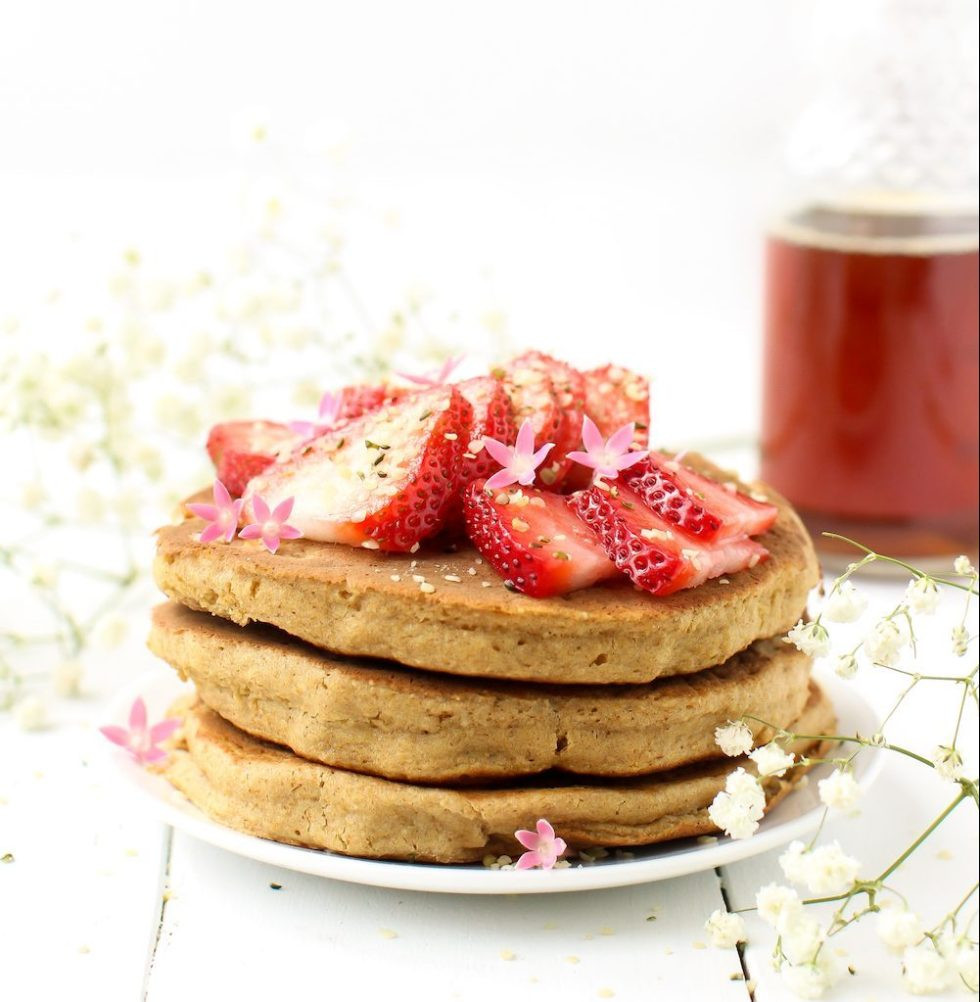 Fluffy Vegan Pancakes  Fluffy Vegan Pancakes without Bananas