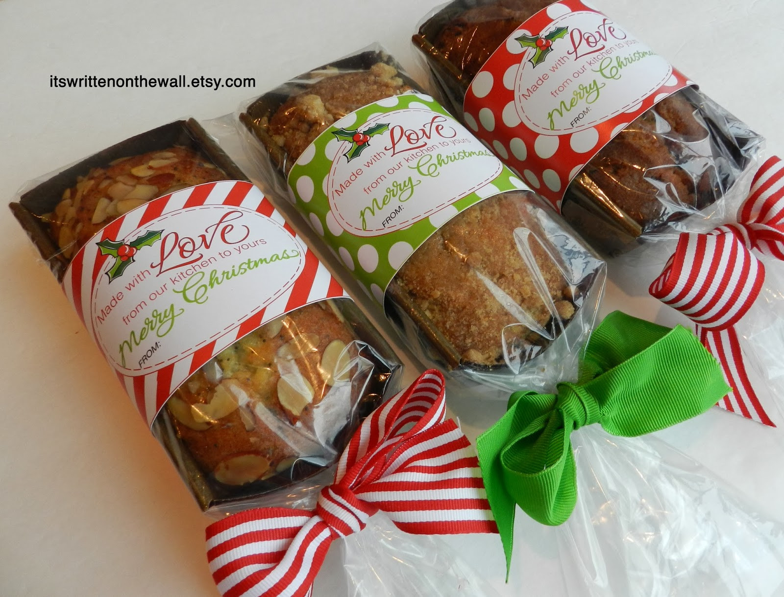 Food Gifts For Christmas  It s Written on the Wall Christmas Tags For Your Homemade