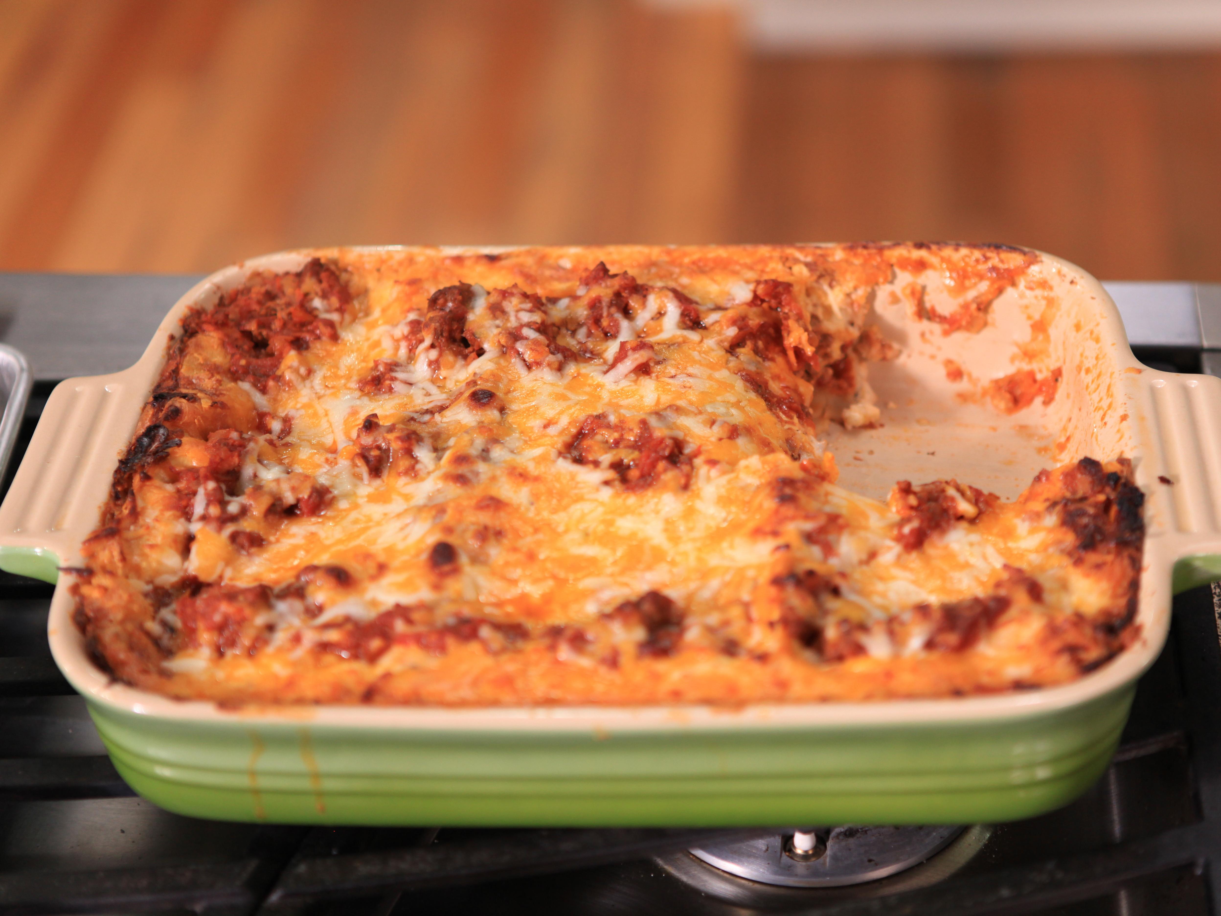 Food Network Lasagna  Beef and Bechamel Lasagna Recipe Melissa d Arabian