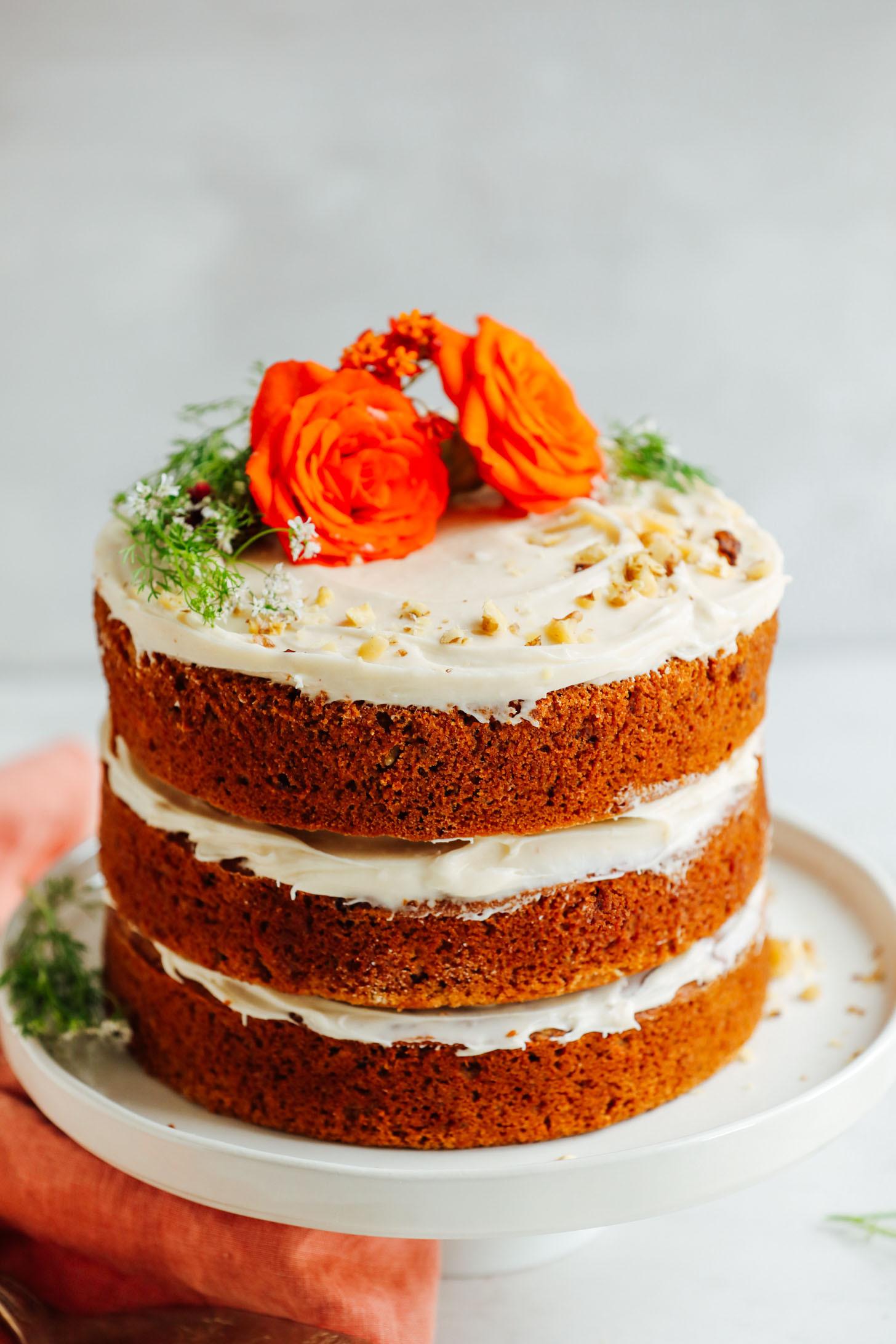 Free Birthday Dessert  Vegan Gluten Free Carrot Cake