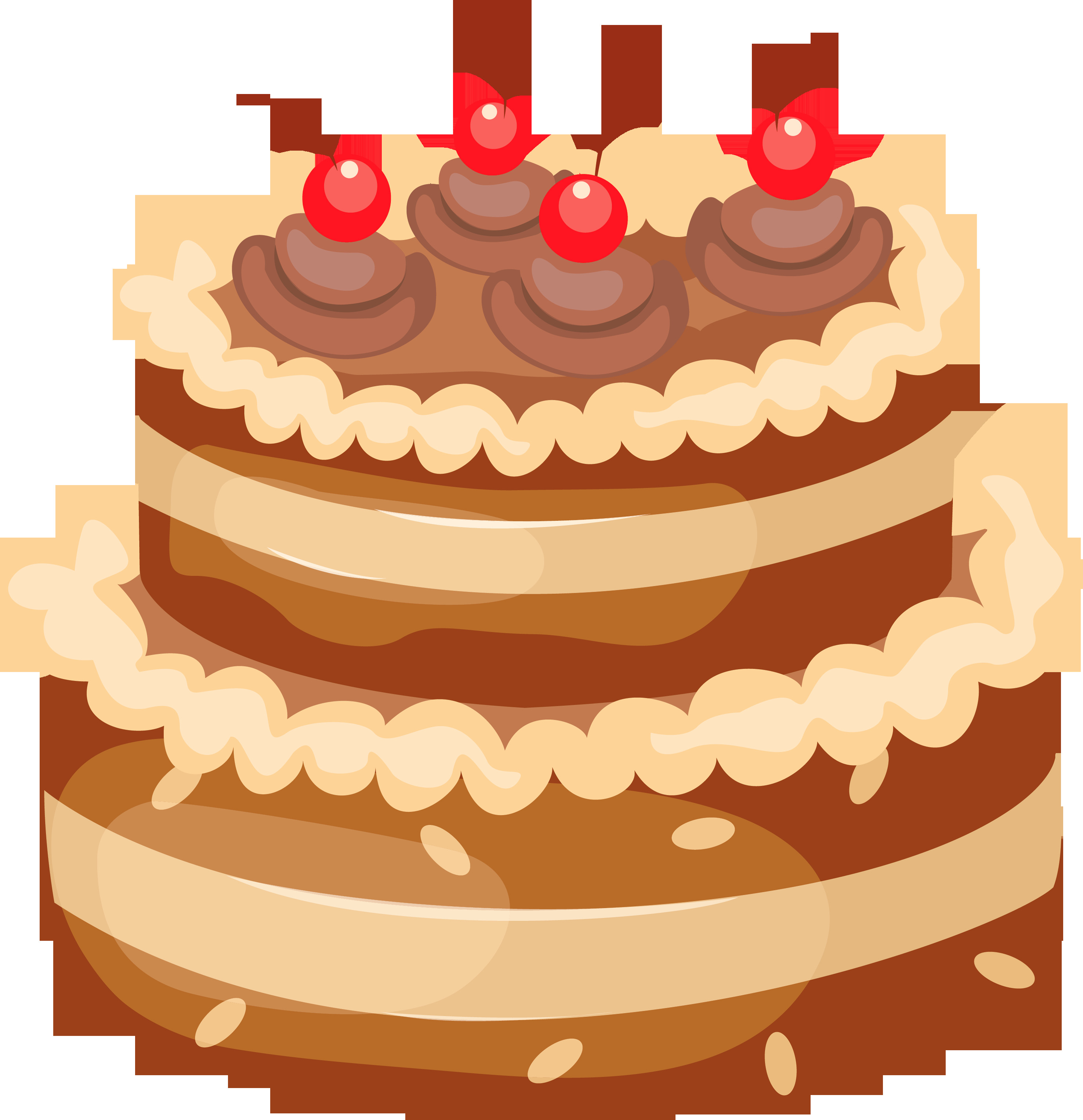 Free Birthday Dessert  Dessert clipart baked goods Pencil and in color dessert