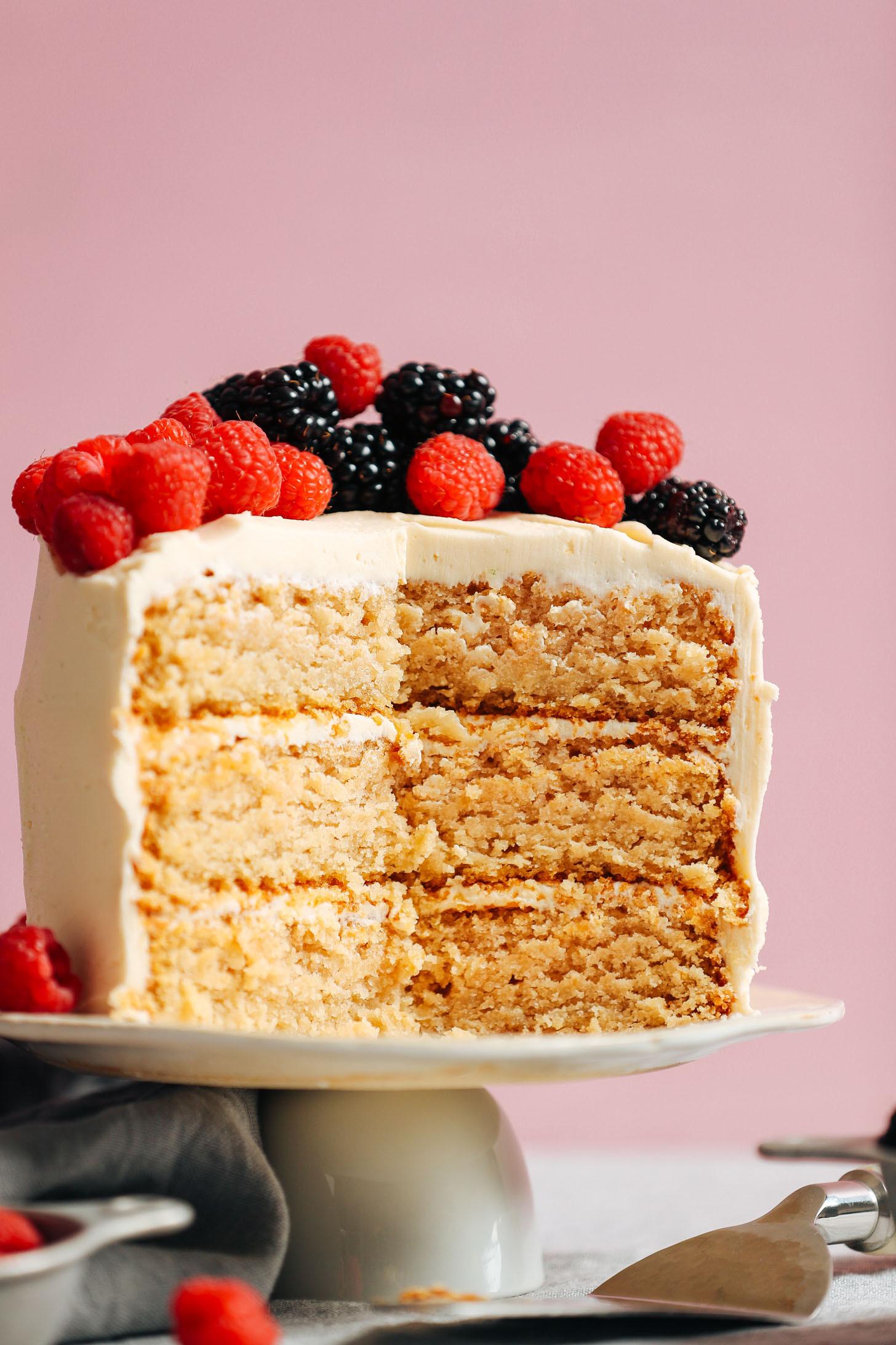 Free Birthday Dessert  1 Bowl Vegan Gluten Free Vanilla Cake