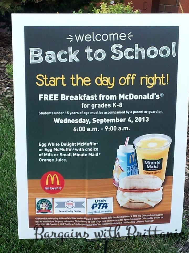 Free Breakfast For Kids  FREE Breakfast for Kids at McDonald s Tomorrow