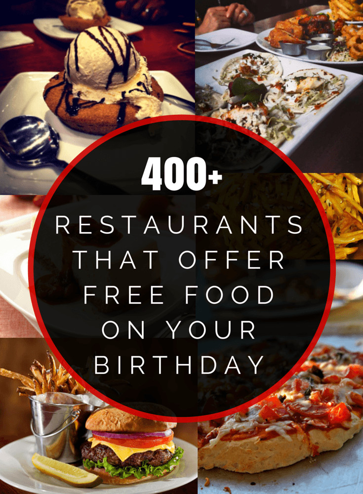 Free Dinner On Your Birthday  400 Restaurants That fer Free Food Your Birthday
