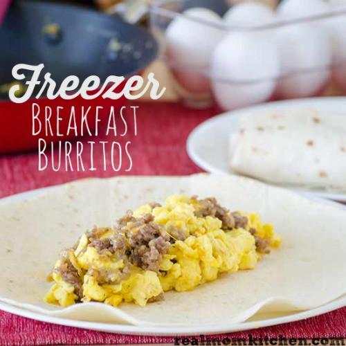 Freezable Breakfast Burritos  Breakfast Burritos 2 Ways