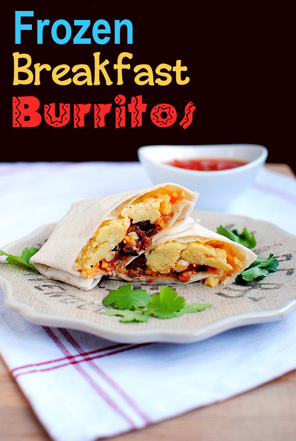 Freezable Breakfast Burritos  Frozen Breakfast Burritos Iowa Girl Eats