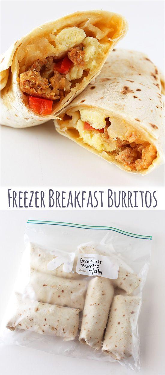 Freezable Breakfast Burritos  Freezer Breakfast Burritos