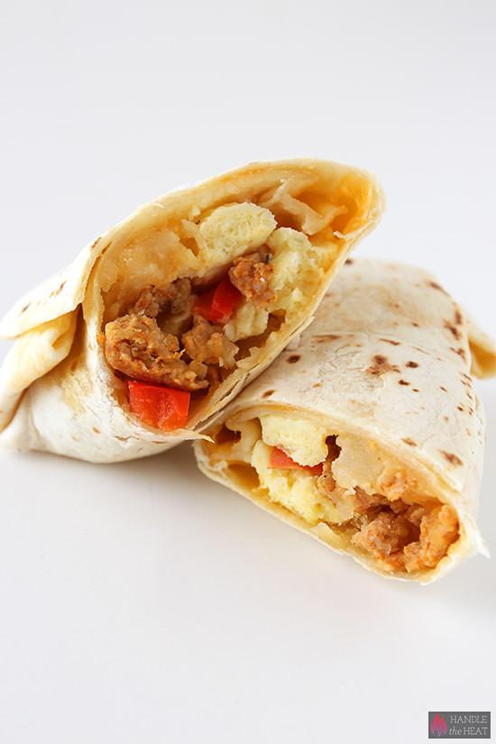 Freezable Breakfast Burritos  Freezer Breakfast Burritos Handle the Heat
