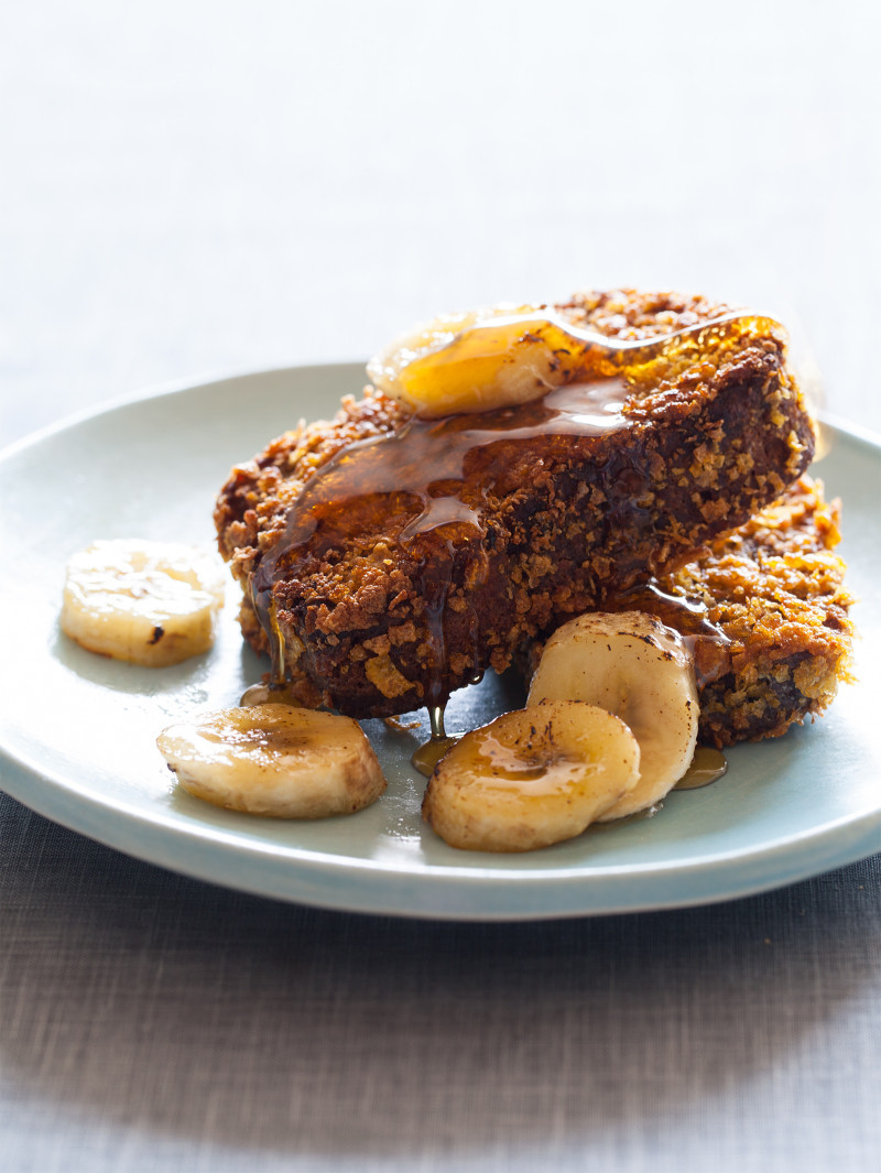 French Bread French Toast  Banana Bread French Toast Breakfast recipe