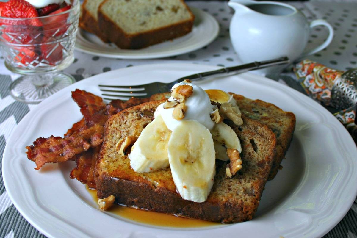 French Bread French Toast  Banana Bread French Toast Life Love and Good Food
