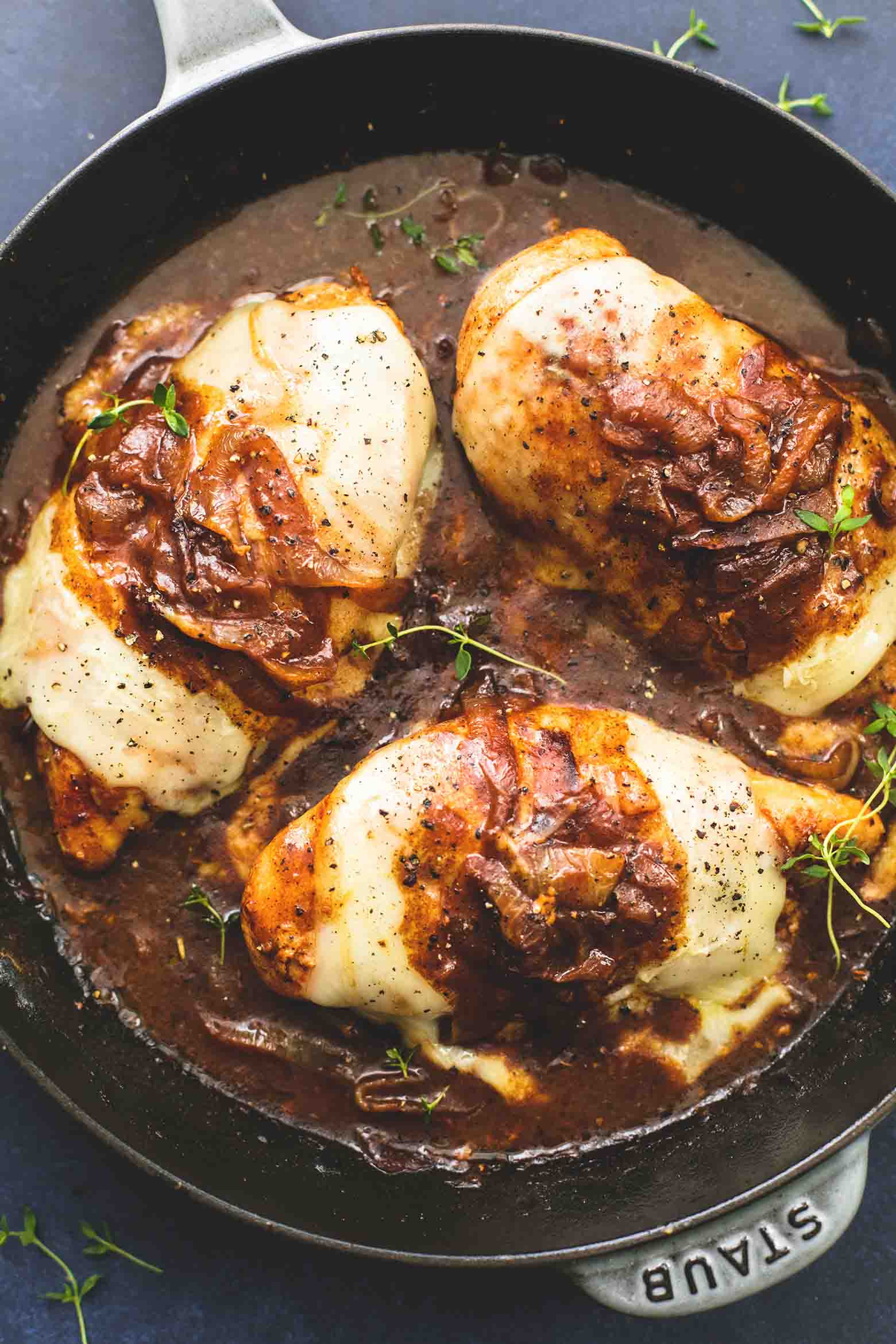 French Onion Chicken  French ion Chicken
