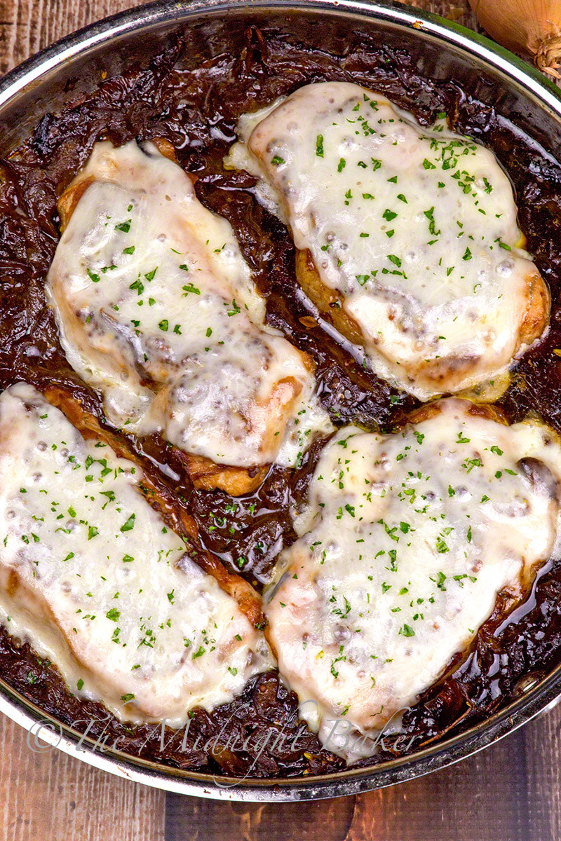 French Onion Pork Chops  French ion Soup Pork Chops The Midnight Baker
