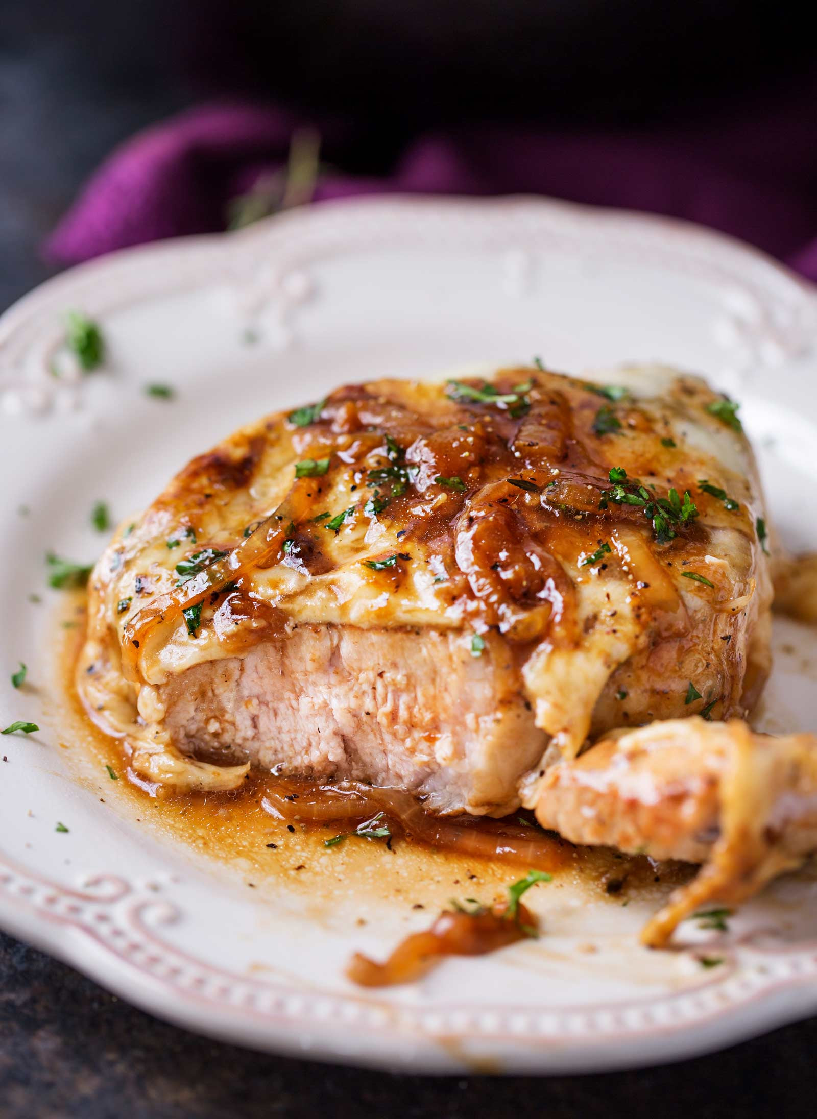 French Onion Pork Chops  e Pan French ion Smothered Pork Chops The Chunky Chef
