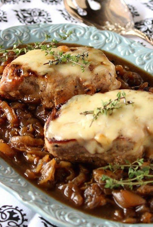 French Onion Pork Chops  French ion Pork Chops Dinner Ideas