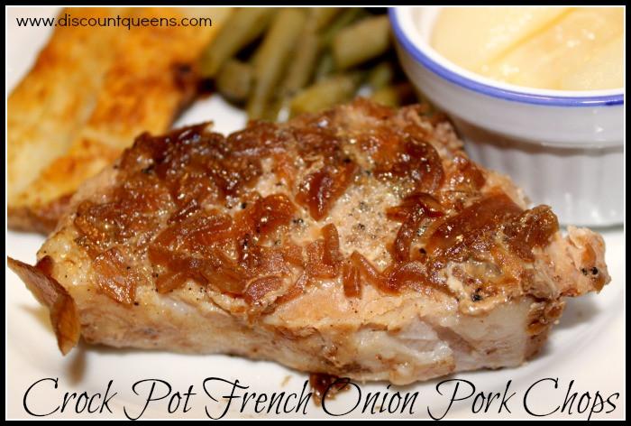 French Onion Pork Chops  Crock Pot French ion Pork Chops
