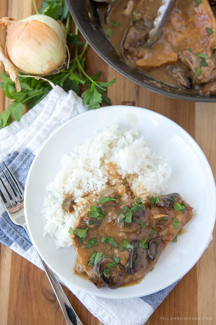 French Onion Pork Chops  Oven Braised Pork Chope Pork Chops Recipes