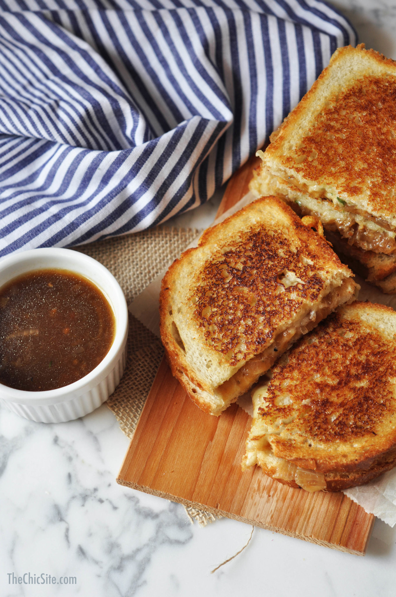 French Onion Soup Cheese  French ion Soup Grilled Cheese The Chic Site