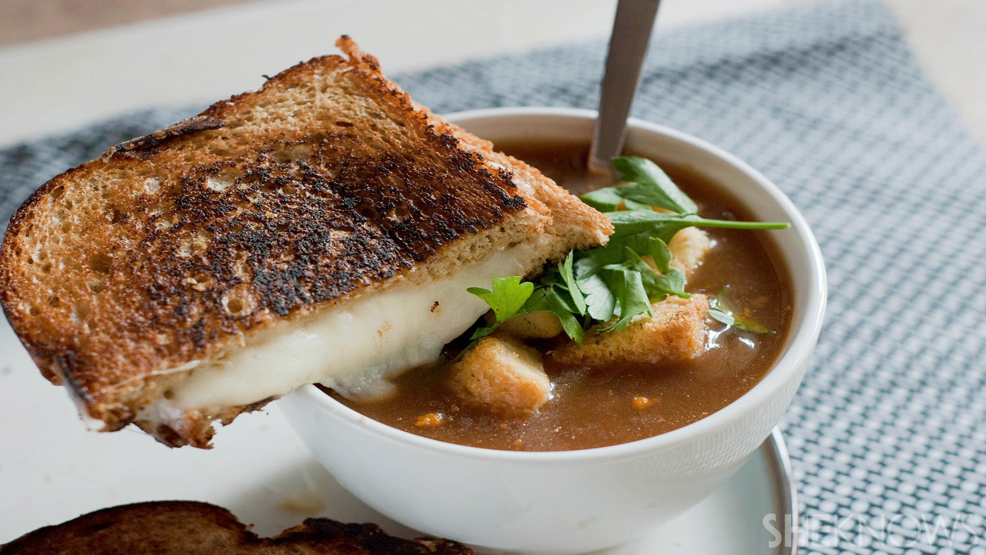 French Onion Soup Cheese  Go gourmet with this ve arian French onion soup and