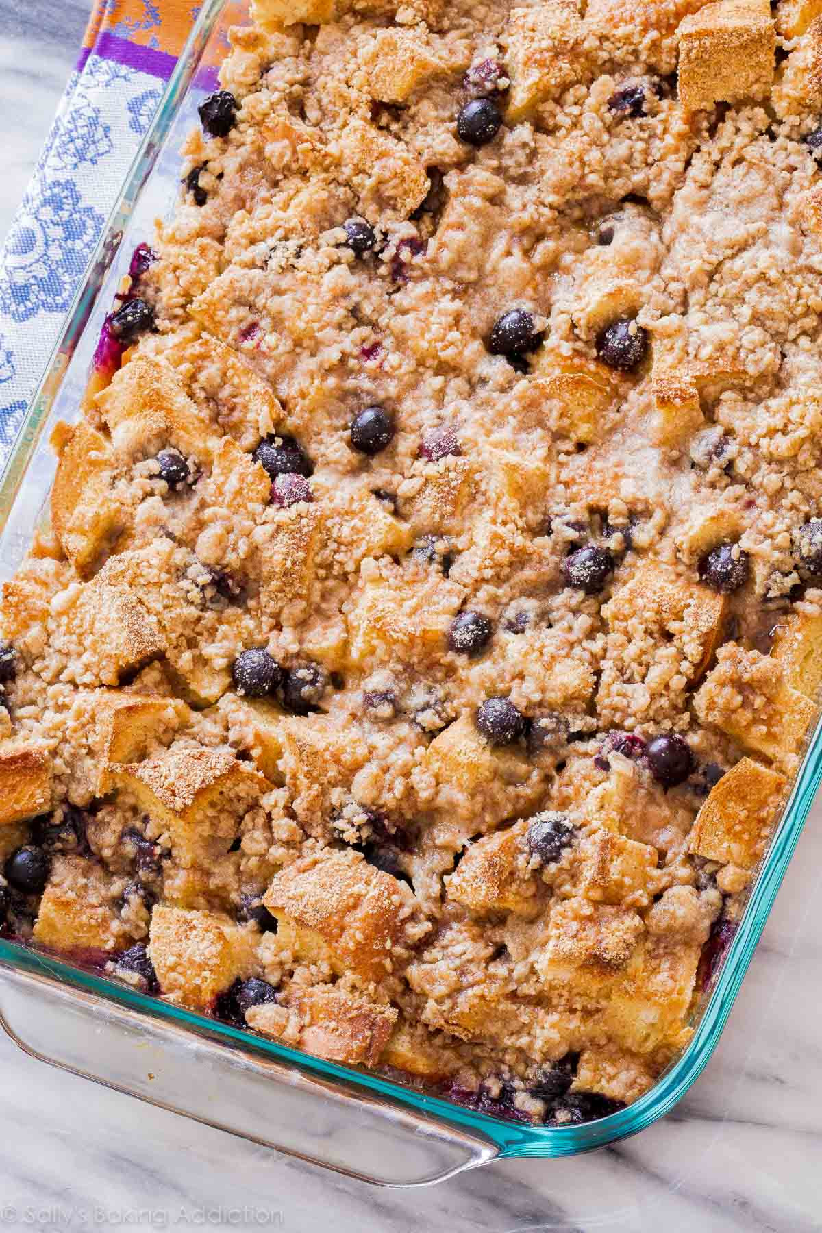French Toast Casserole  Unbelievable Blueberry French Toast Casserole Sallys