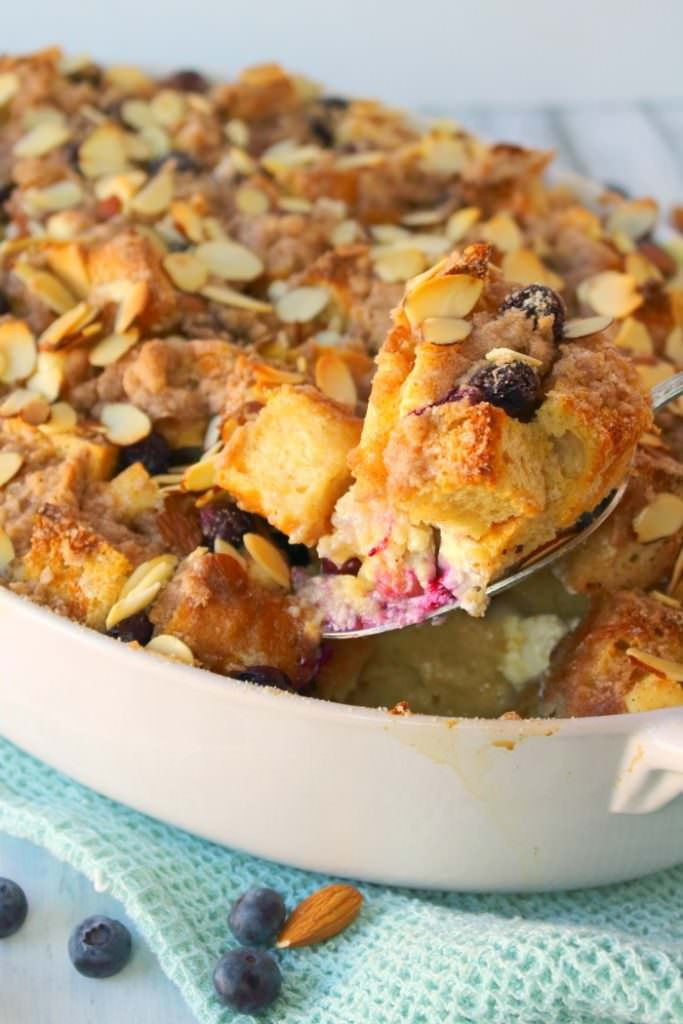 French Toast Casserole Cream Cheese  Blueberry Cream Cheese French Toast Bake Delightful E Made