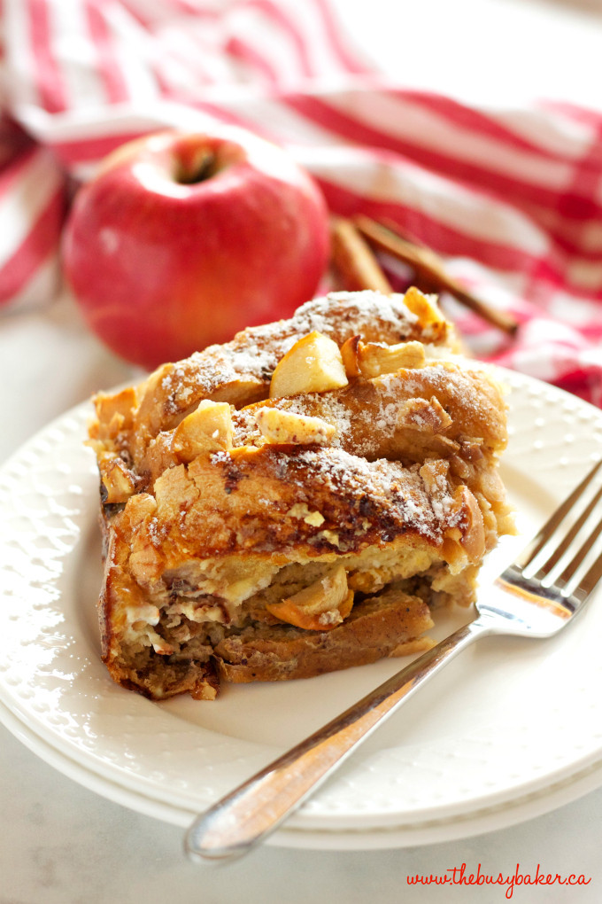 French Toast Casserole With Apples  Apple Cinnamon French Toast Casserole The Busy Baker