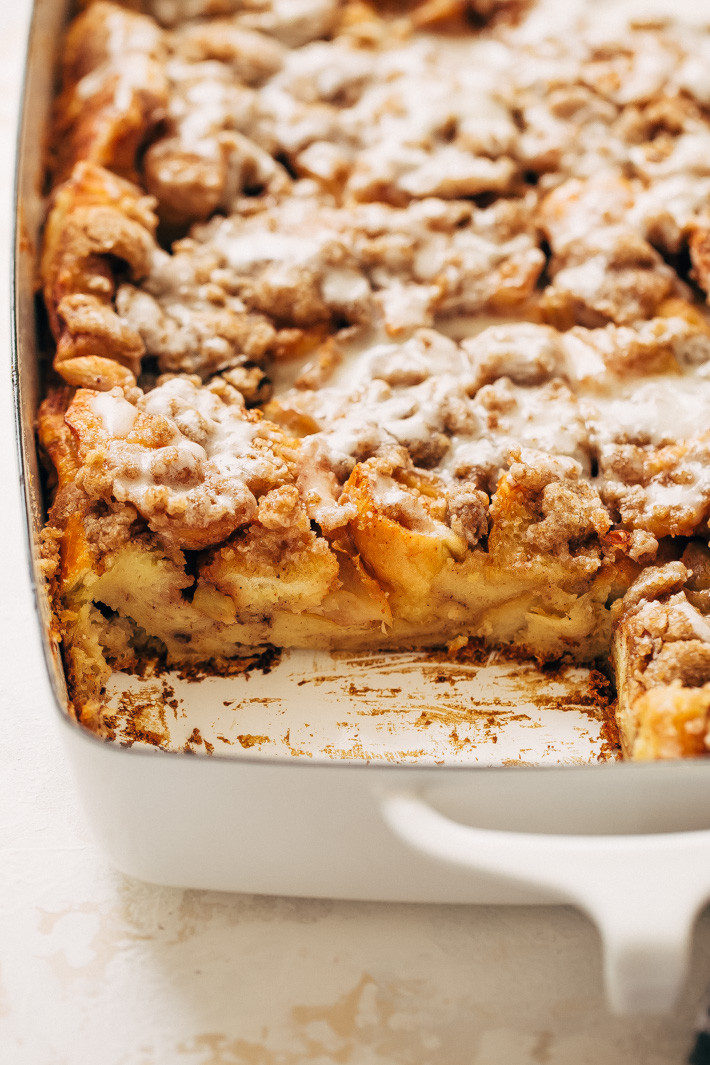 French Toast Casserole With Apples  Apple Pie French Toast Bake or Casserole Recipe
