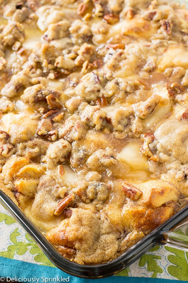 French Toast Casserole With Apples  Apple Streusel French Toast Bake