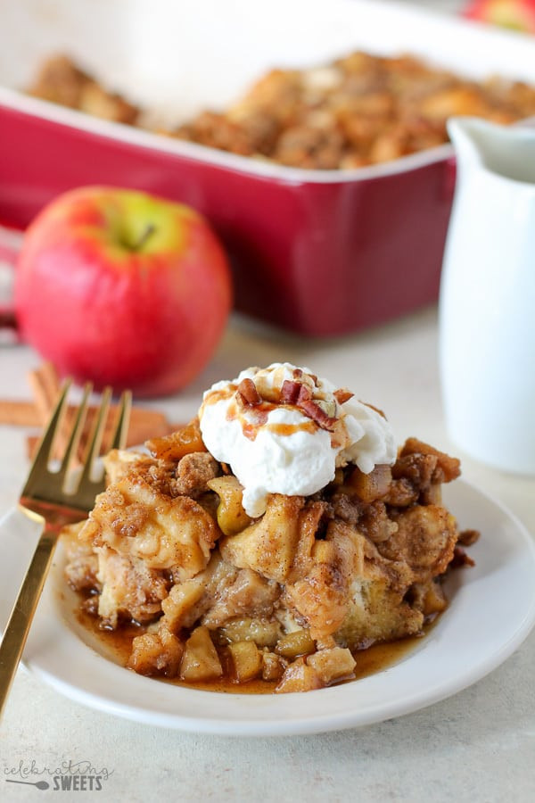 French Toast Casserole With Apples  French Toast Casserole with Apples Celebrating Sweets