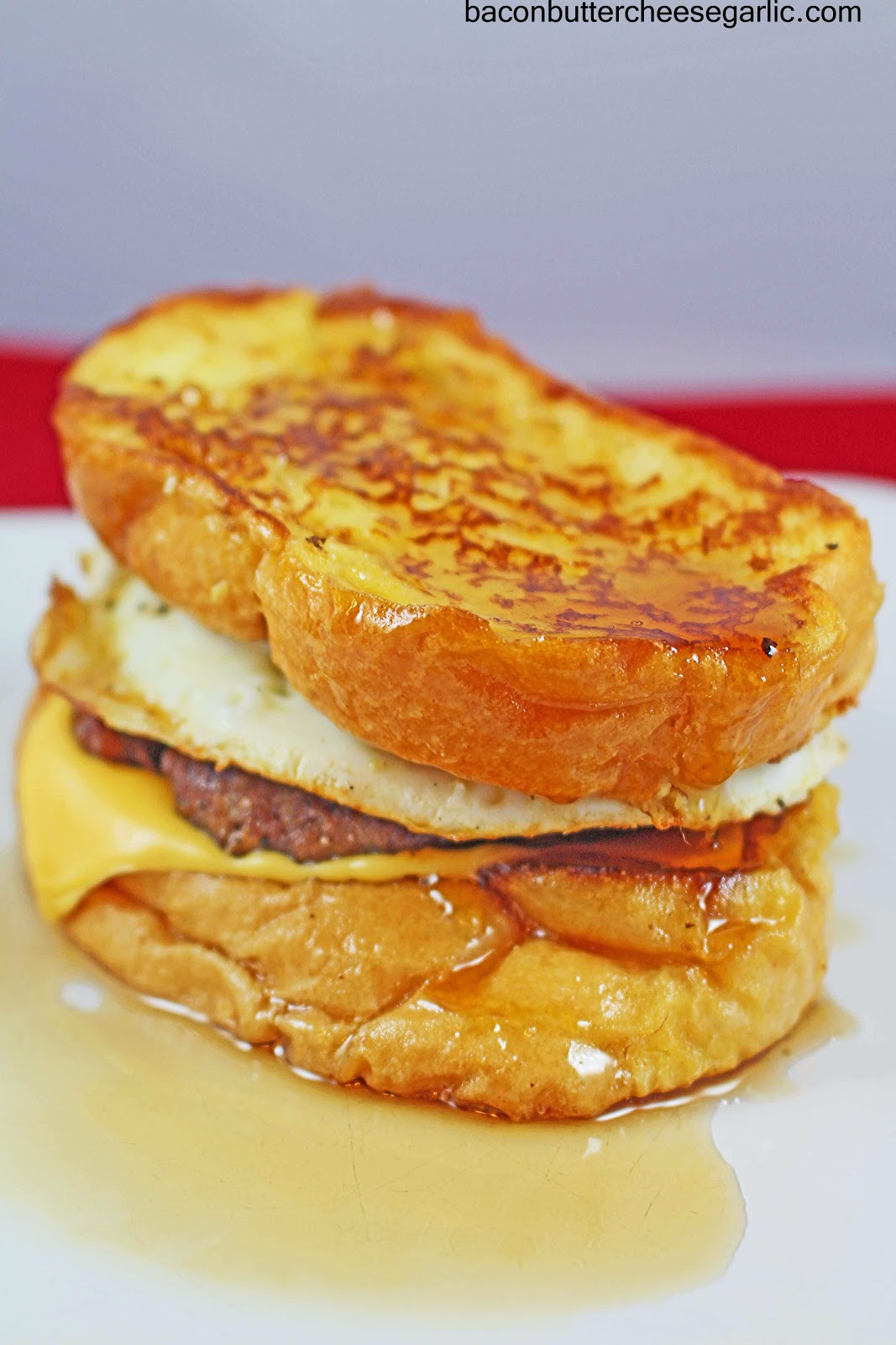 French Toast Sandwich  Bacon Butter Cheese & Garlic French Toast Sandwiches