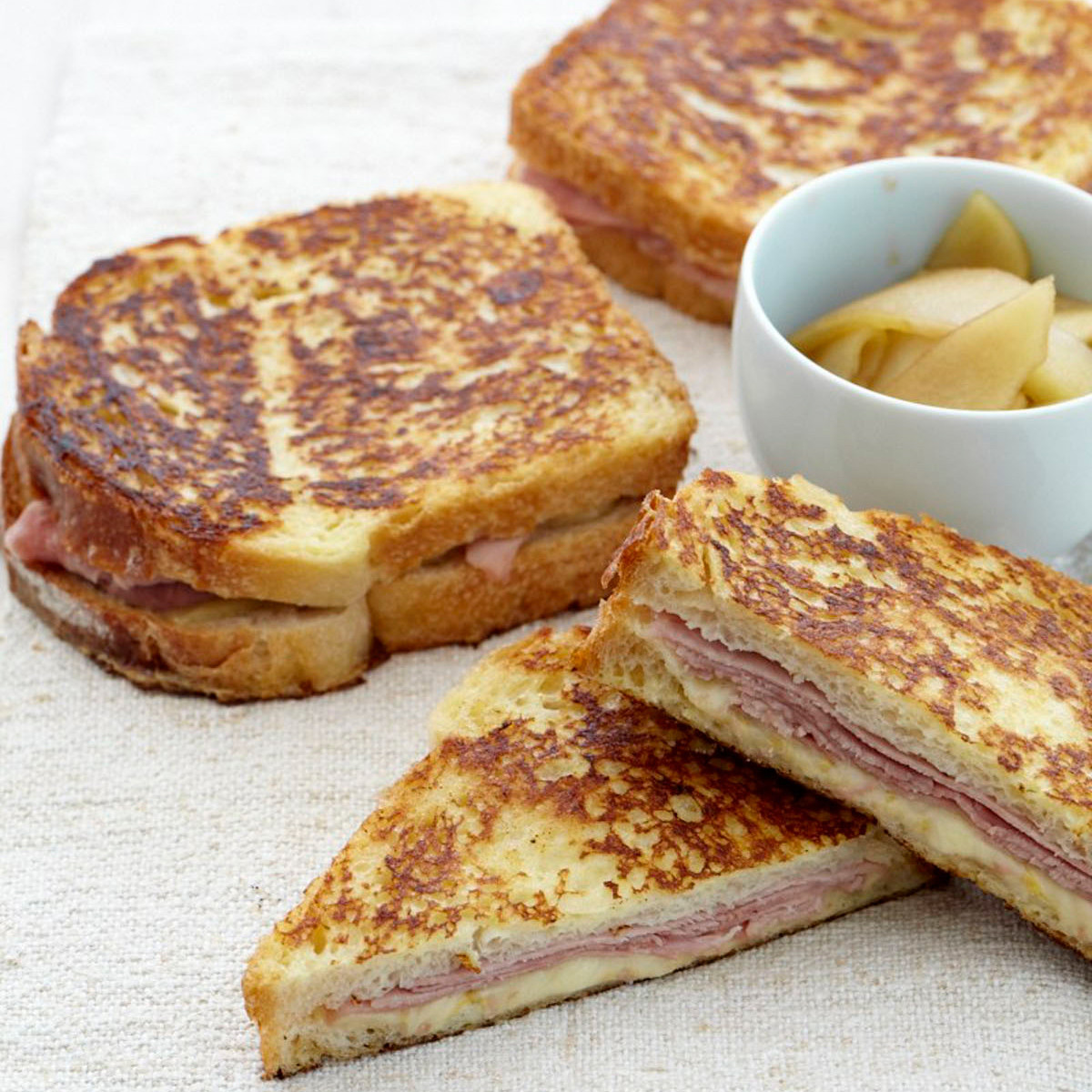 French Toast Sandwich  Ham and Gruyère French Toast Sandwiches Recipe Jesse