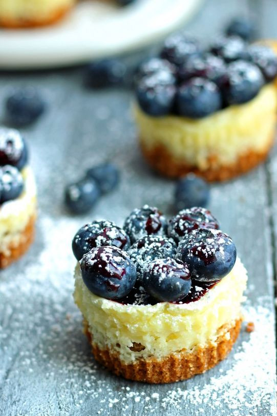 Fresh Blueberry Desserts  19 Mini Cheesecakes That Are the Perfect bination of