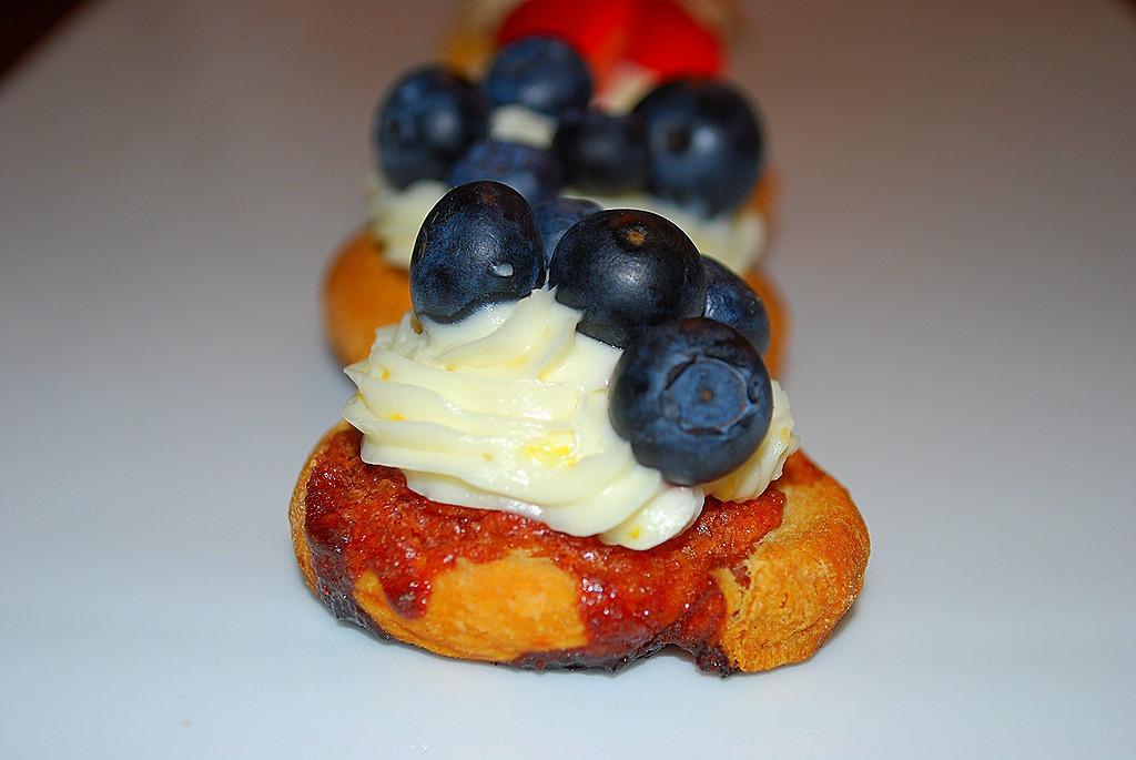 Fresh Blueberry Desserts  Fresh Blueberry Dessert Bruschetta Recipe — Dishmaps