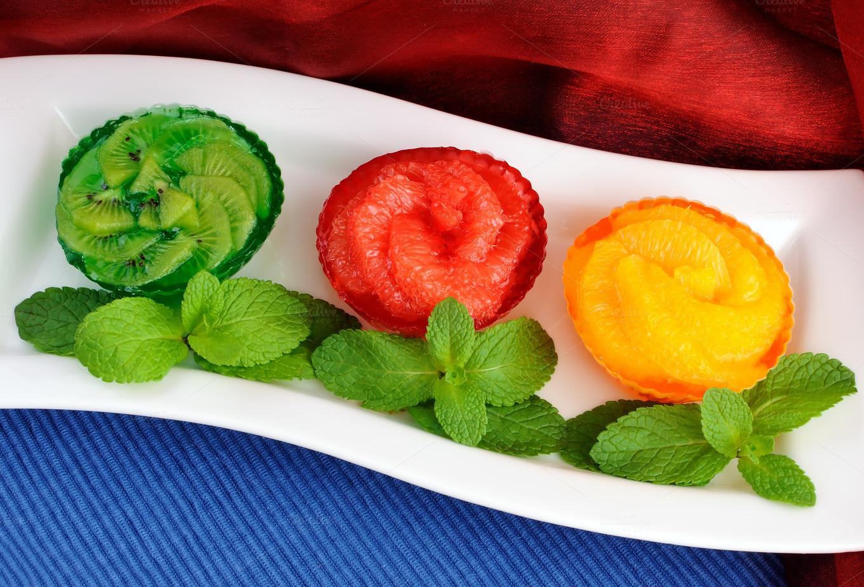 Fresh Fruit Desserts  Jelly dessert of fresh fruit Food & Drink s on