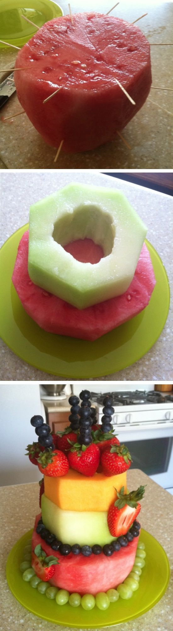 "Fresh Fruits Cake Recipe  DIY Fresh Fruit ""Cake"""