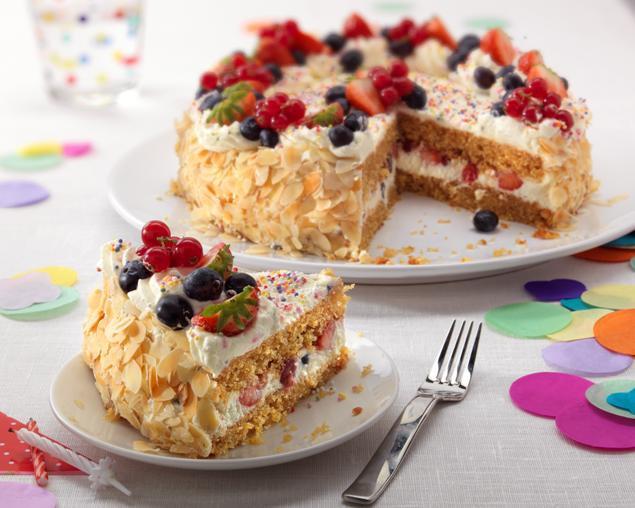 Fresh Fruits Cake Recipe  Fruit Birthday Cake Recipe Bake With Stork