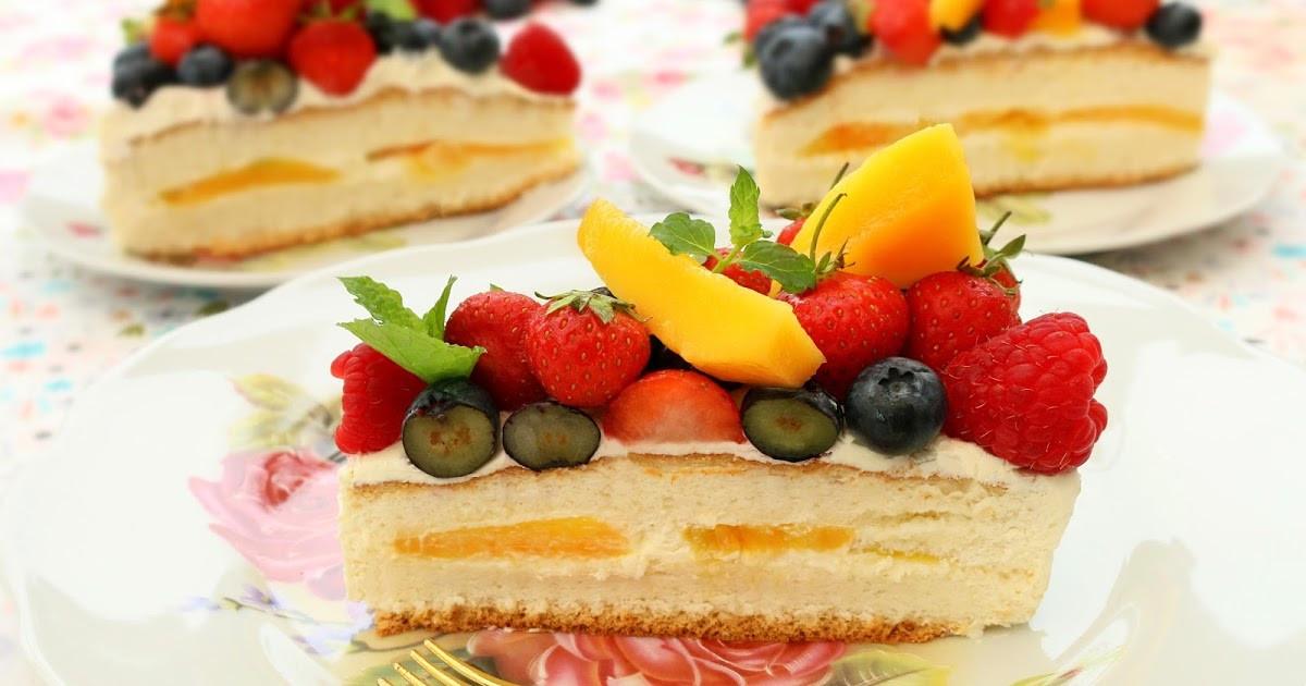 Fresh Fruits Cake Recipe  Josephine s Recipes How To Make Fresh Fruits Cream Cake