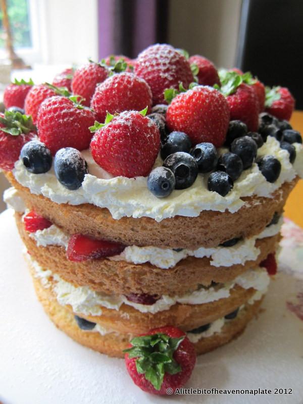 Fresh Fruits Cake Recipe  A little bit of heaven on a plate Fresh Fruit & Cream