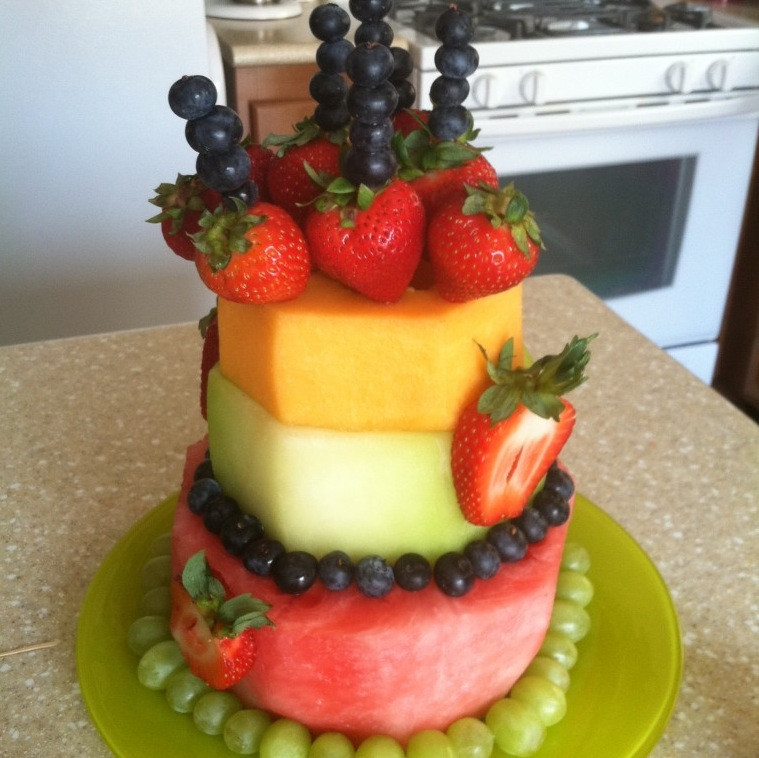 "Fresh Fruits Cake Recipe  DIY Fresh Fruit ""Cake"" Recipe By"
