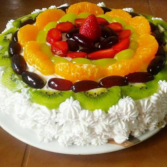 Fresh Fruits Cake Recipe  Eggless Fresh Cream Fruit Cake Recipe How to make Eggless