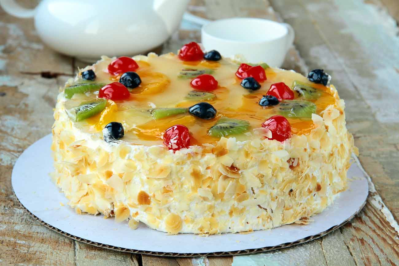 Fresh Fruits Cake Recipe  French Gâteaux Recipe Layered Fruit and Cream Cake by