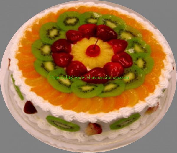 Fresh Fruits Cake Recipe  Fresh Fruit Cake – Bhavna s Kitchen