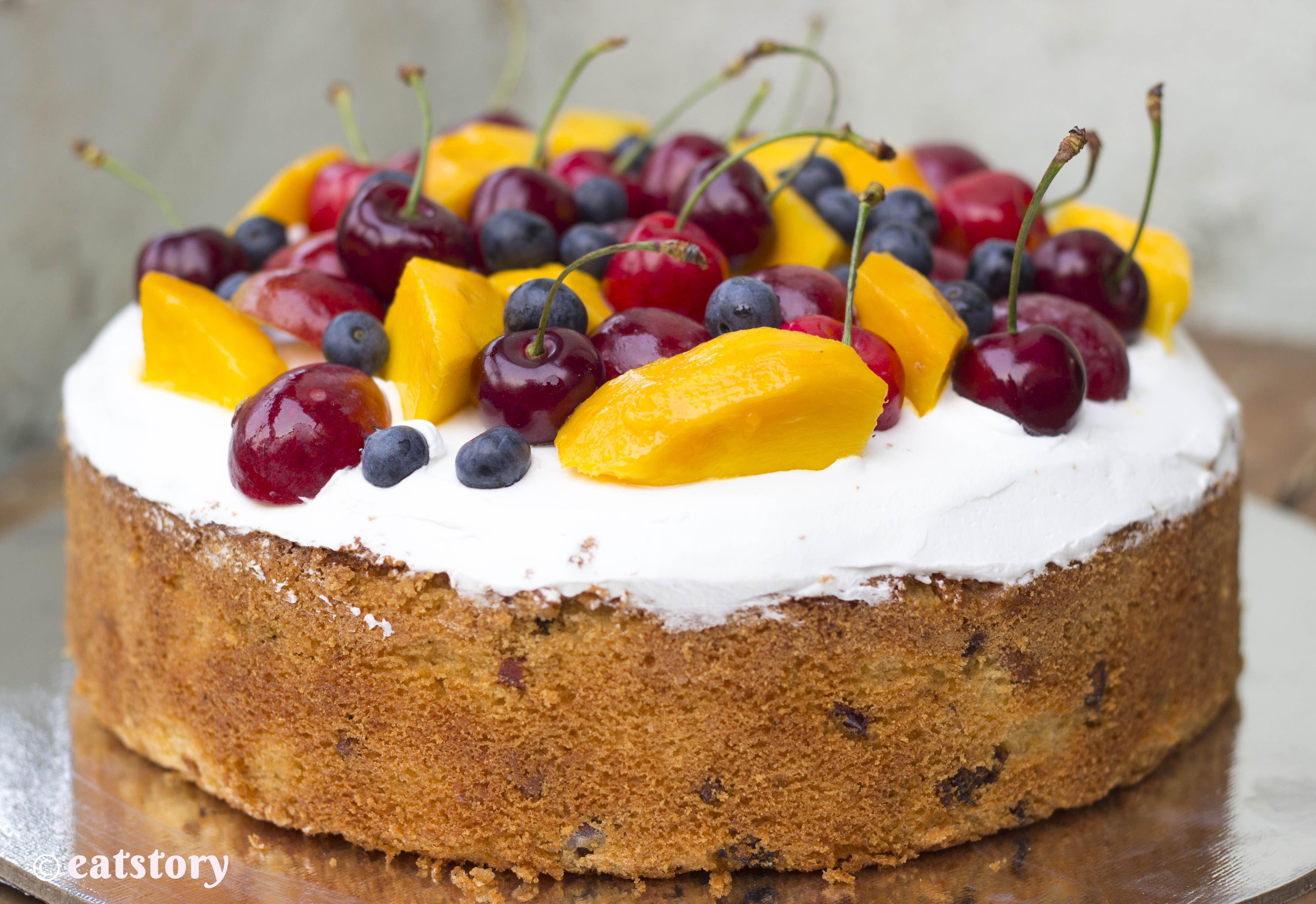 Fresh Fruits Cake Recipe  fresh fruit cake